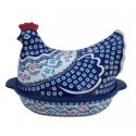 Polish Pottery 1.5L HERITAGE HOME Hen Baker Casserole | CLASSIC