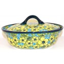 Polish Pottery CITRINE 1.5-Liter Covered Stoneware Casserole Dish | UNIKAT