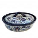 Polish Pottery 4TH OF JULY 1.5-Liter Covered Stoneware Casserole | ARTISAN