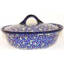 Polish Pottery FRIENDSHIP 1.5-Liter Covered Stoneware Casserole Dish | ARTISAN