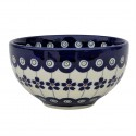 Polish Pottery FLOWERING PEACOCK 4.5-inch Rice Stoneware Bowl | CLASSIC