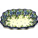 "Pottery Avenue  11.5"" Fancy Rimmed Dish 