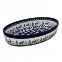 Polish Pottery CARIBOU LODGE 11-inch Stoneware Oval Baker | CLASSIC
