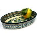 Polish Pottery NORDIC 11-inch Stoneware Oval Baker | UNIKAT