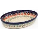Polish Pottery FLOWERING SPLENDOR 11-inch Stoneware Oval Baker   UNIKAT