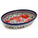 Polish Pottery BELLISSIMA 11-inch Stoneware Oval Baker | EX UNIKAT