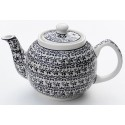Polish Pottery ELEGANT TIME 34-oz Stoneware Teapot | CLASSIC