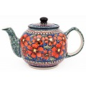Polish Pottery CHERISHED FRIENDS 34-oz Stoneware Teapot | UNIKAT