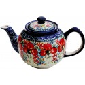 Polish Pottery CHAMPAGNE 34-oz Stoneware Teapot | UNIKAT