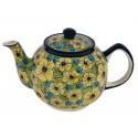 Polish Pottery CITRINE 34-oz Stoneware Teapot | UNIKAT