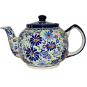 Polish Pottery 4TH OF JULY 34-oz Stoneware Teapot | ARTISAN