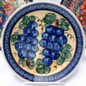 "Polish Pottery 7.75"" GRAPES Stoneware Salad Plate 
