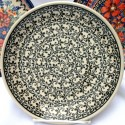 "Polish Pottery 7.75"" ELEGANT TIMES Stoneware Salad Plates | CLASSIC"