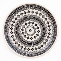 "Polish Pottery 7.75"" BLACK DIAMOND Stoneware Salad Plate 