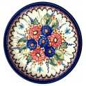 "Polish Pottery BUTTERFLY MERRY MAKING 7.75"" Stoneware Salad Plate 