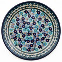 "Polish Pottery FORGET ME NOT 7.75"" Stoneware Salad Plate 