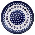"Polish Pottery  7.75"" FLOWERING PEACOCK Stoneware Salad Plate 