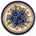 "Polish Pottery STRAWBERRY BUTTERFLY 7.75"" Stoneware Salad Plate 