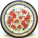 "Polish Pottery LOVE BLOSSOMS 7.75"" Stoneware Salad Plate | EX UNIKAT"