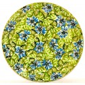 "Polish Pottery HEAVENLY 7.75"" Stoneware Salad Plate 