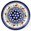 POLISH POTTERY STONEWARE CARIBOU LODGE DINNER PLATE | CLASSIC