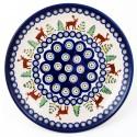 "Polish Pottery CARIBOU LODGE 11"" Stoneware Dinner Plate | CLASSIC"