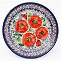 "Polish Pottery 7.75"" BELLISSIMA Stoneware Salad Plate | EX UNIKAT"