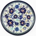 "Polish Pottery 7.75"" 4TH OF JULY Stoneware Salad Plates 