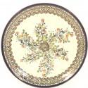 "Polish Pottery 7.75"" SEA GARDEN Stoneware Salad Plate | ARTISAN"
