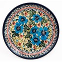 "Polish Pottery 7.75"" FIELD OF DREAMS Stoneware Salad Plates 