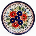 "Polish Pottery BUTTERFLY MERRY MAKING 6.5"" Bread & Butter Stoneware Plate 