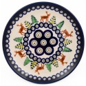 Polish Pottery CARIBOU LODGE 6.5-inch Bread & Butter Stoneware Plate | CLASSIC
