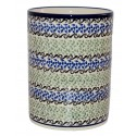 "Polish Pottery CELEBRATE 7"" Stoneware Utensil Jar 