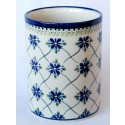 "Polish Pottery SWEETHEART 7"" Stoneware Utensil Jar 