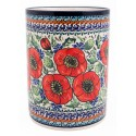 "Polish Pottery BELLISSIMA 7"" Stoneware Utensil Jar | EX UNIKAT"