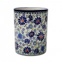 "Polish Pottery 4TH OF JULY 7"" Stoneware Utensil Jar   ARTISAN"