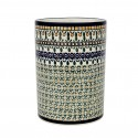Polish Pottery ENCHANTED 7-inch Stoneware Utensil Jar-Crock | ARTISAN