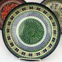 "Polish Pottery DEAREST FRIEND 9"" Stoneware Pie Dish | ARTISAN"