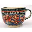 Polish Pottery CHERISHED FRIENDS 17-oz Cappuccino-Soup Stoneware Cup | UNIKAT
