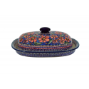 Polish Pottery Large Platter CHERISHED FRIENDS Baking Dish | UNIKAT