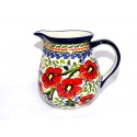 Polish Pottery LOVE BLOSSOMS 1.7-Cup Stoneware Pitcher | EX-UNIKAT