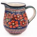 Polish Pottery 3.6 Cup CHERISHED FRIENDS Pitcher | UNIKAT