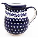 Polish Pottery FLOWERING PEACOCK 3.6-Cup Stoneware Pitcher | CLASSIC