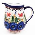 Polish Pottery STRAWBERRY BUTTERFLY 3.6-Cup Stoneware Pitcher | UNIKAT
