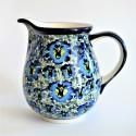 Polish Pottery BLUE LAGOON 3.6-Cup Stoneware Pitcher | UNIKAT
