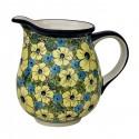 Polish Pottery CITRINE 3.6-Cup Stoneware Pitcher | UNIKAT