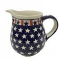 Polish Pottery AMERICANA 3.6-Cup Stoneware Pitcher | CLASSIC