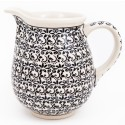 Polish Pottery ELEGANT TIMES 3.6-Cup Stoneware Pitcher | CLASSIC