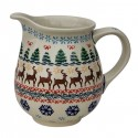 Polish Pottery REINDEER PRANCE 3.6-Cup Stoneware Pitcher | CLASSIC