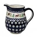 Polish Pottery CARIBOU LODGE 3.6-Cup Stoneware Pitcher | CLASSIC